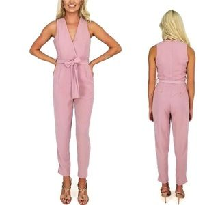 She + Sky Pale Blush Pink Jumpsuit